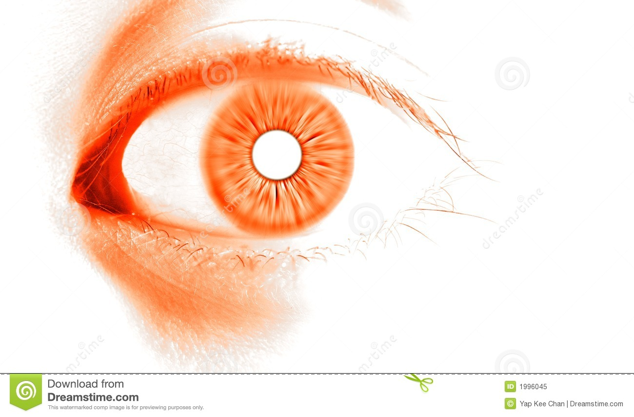 Abstract Orange Eye Ro...