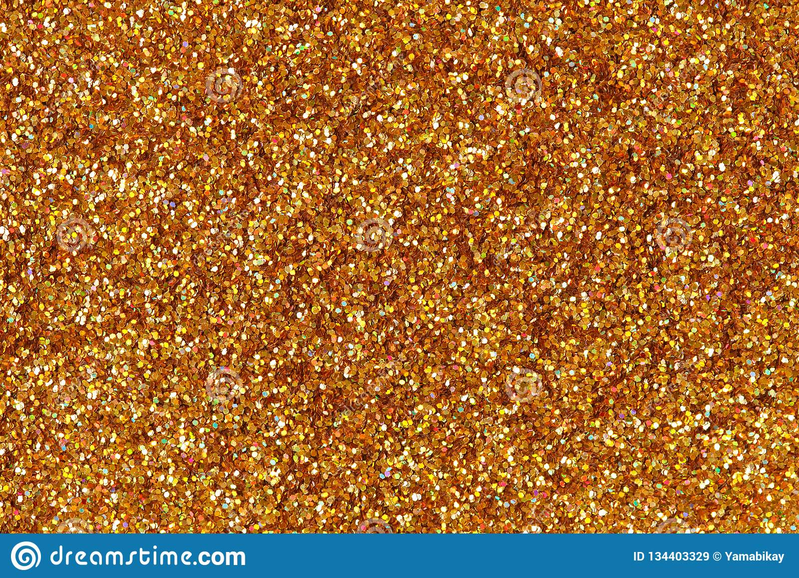 Abstract Orange Gold Glitter Background On Macro Stock