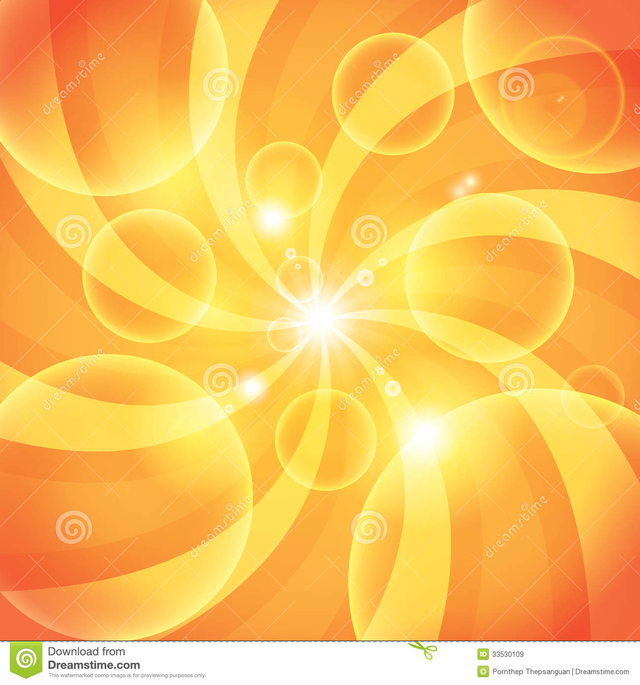 Abstract Orange Sun Light Background Stock Vector - Image ...