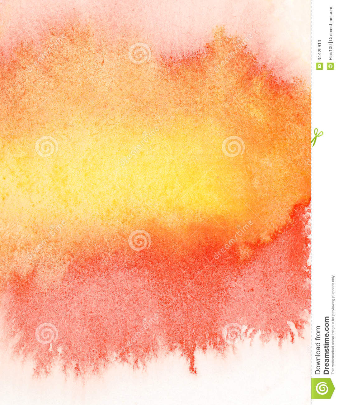 Watercolor splatter vector abstract watercolor background - Abstract Orange Watercolor Background Stock Photos Image