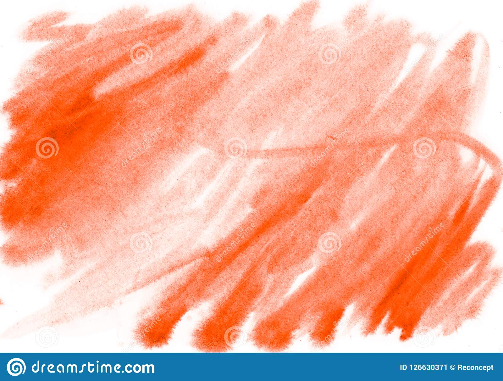 Abstract Orange Watercolor On White Background The Color