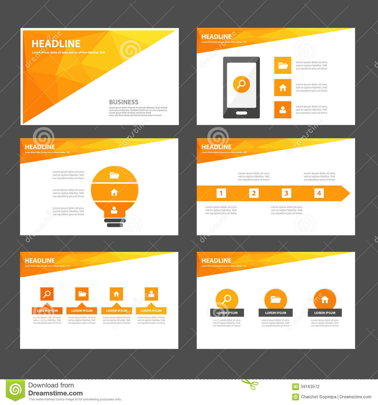 abstract orange yellow infographic element and icon presentation templates flat design set for. Black Bedroom Furniture Sets. Home Design Ideas