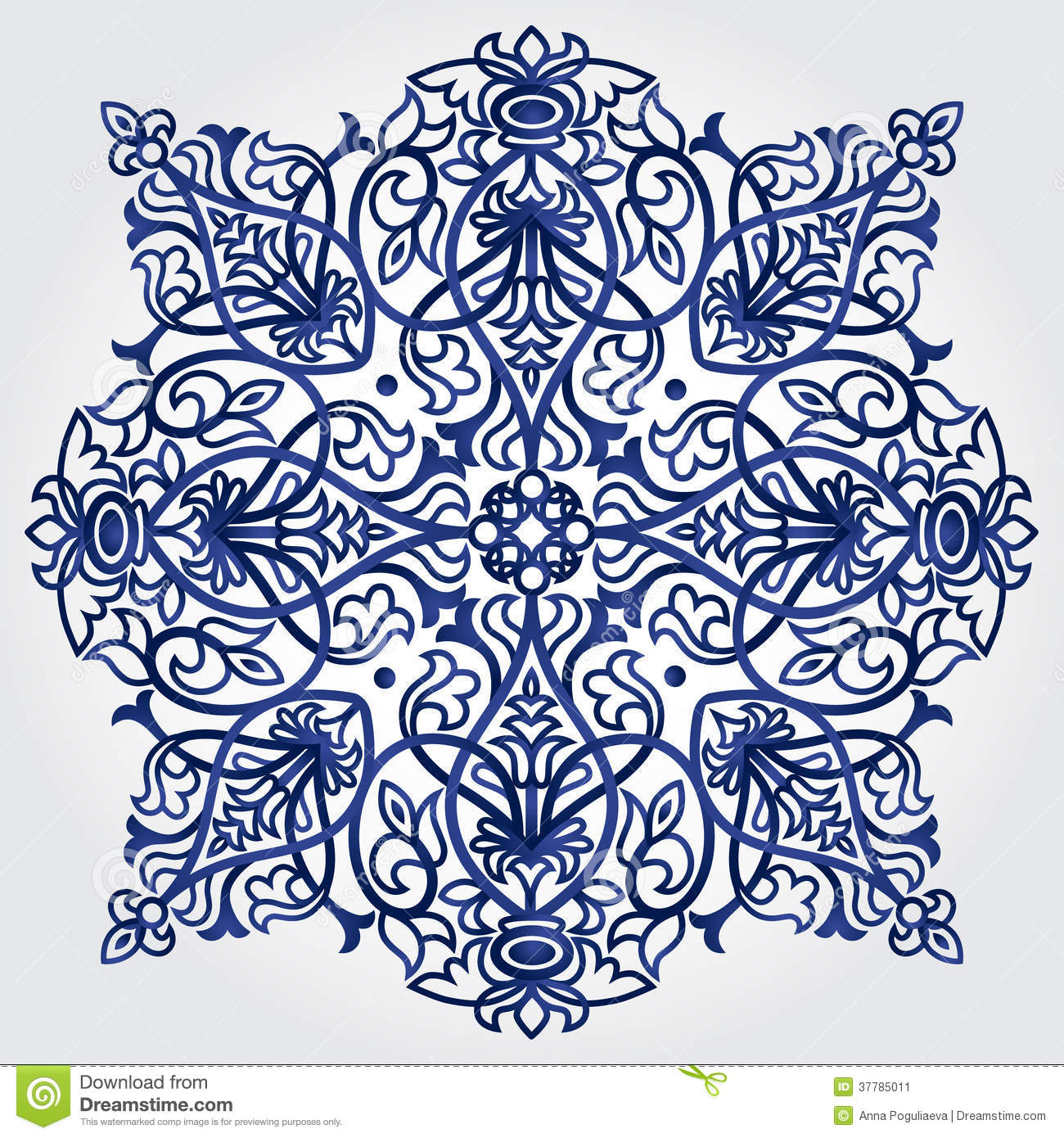 Abstract Ornament In Victorian Style. Stock Illustration ...