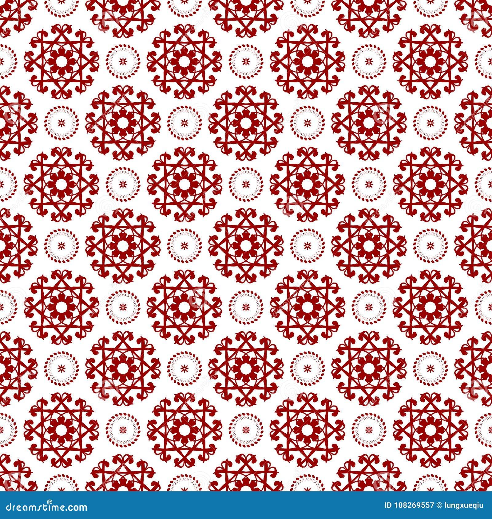 Abstract Ornamental Oriental Floral Seamless Royal Vintage Arabic