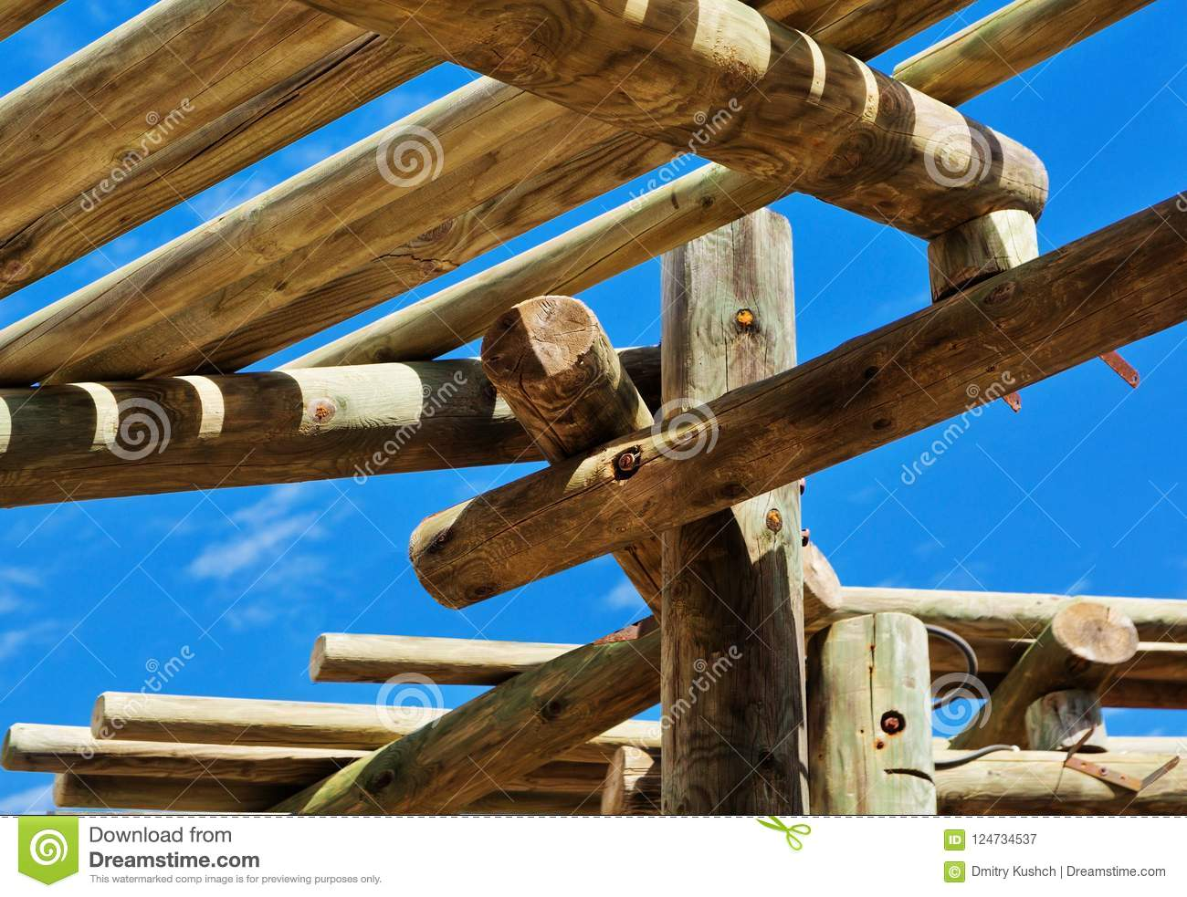 Abstract Outdoor Wooden Canopy Roof Structure Stock Image Image Of Nature Design 124734537