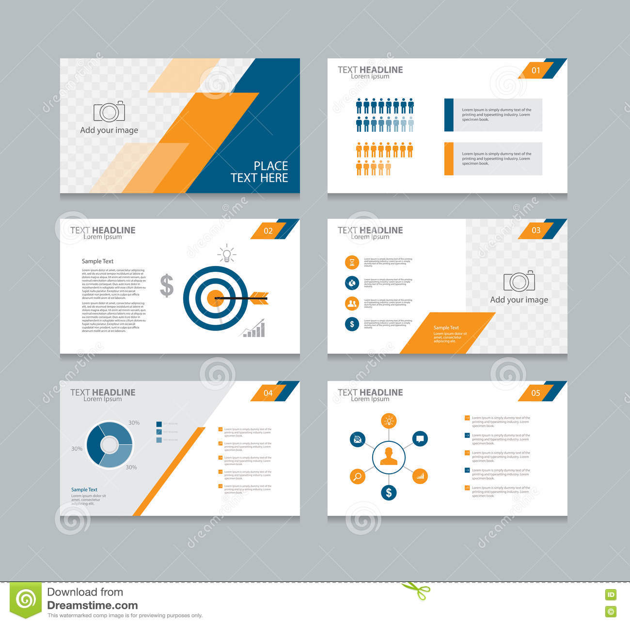 abstract page layout design template for presentation stock vector, Templates
