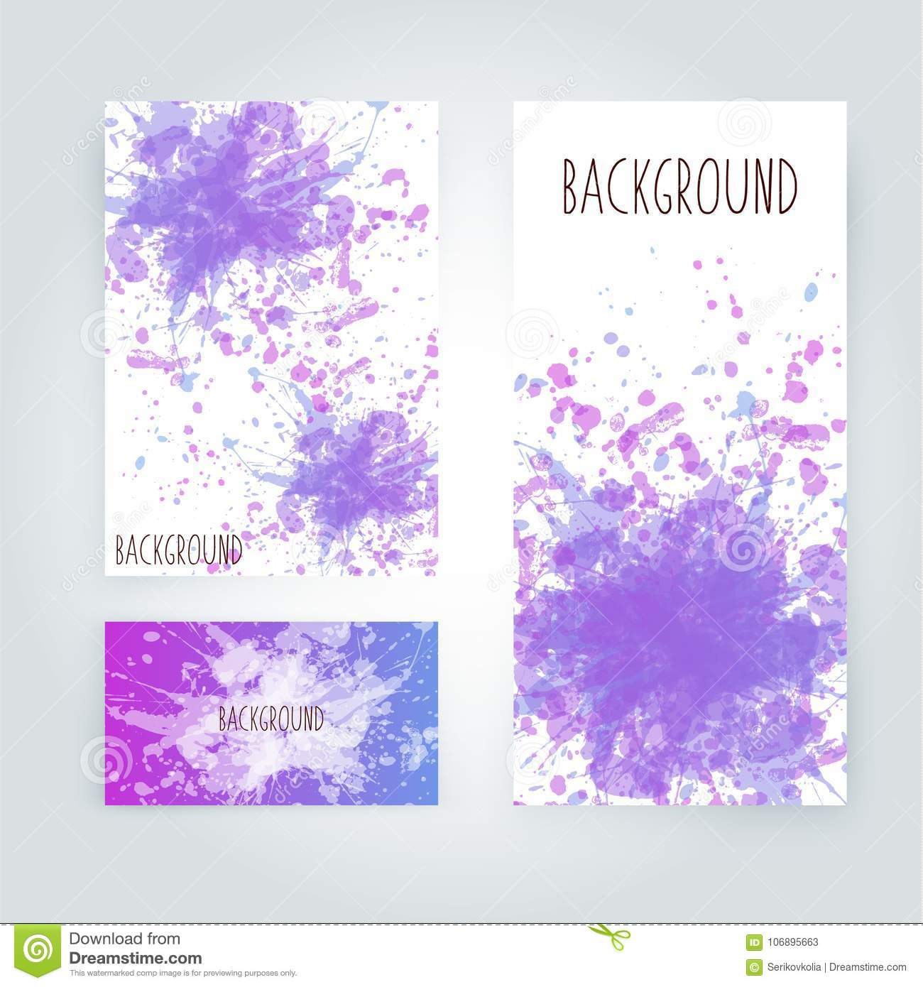 Abstract Paint Splashes Set For Design Use  Splatter