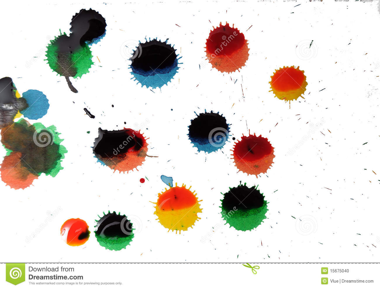 abstract paint spots and dots stock photo