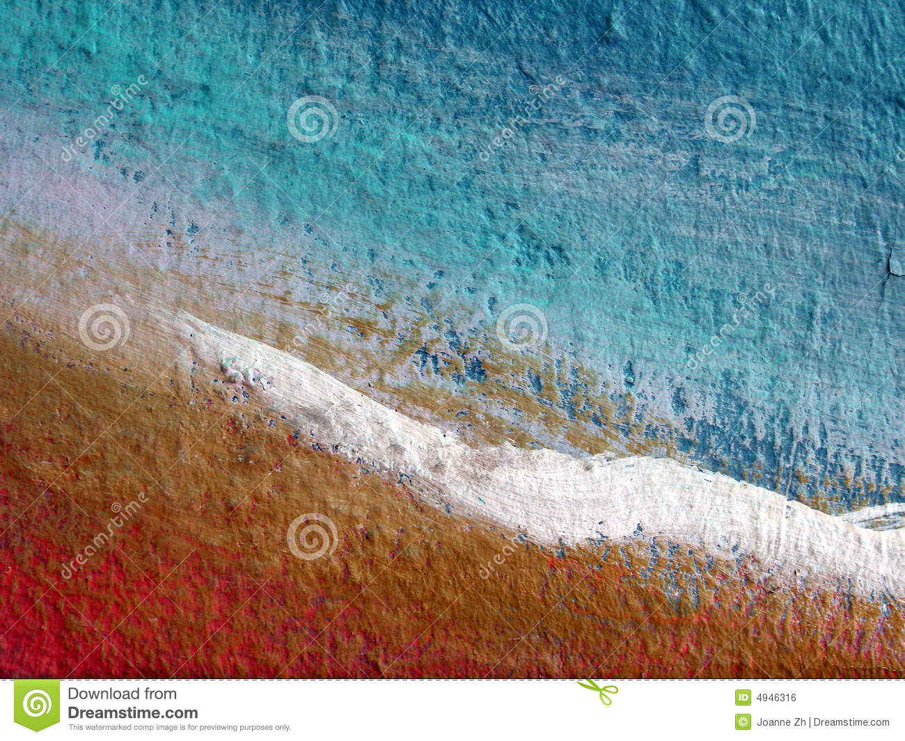 Abstract painted wall surface