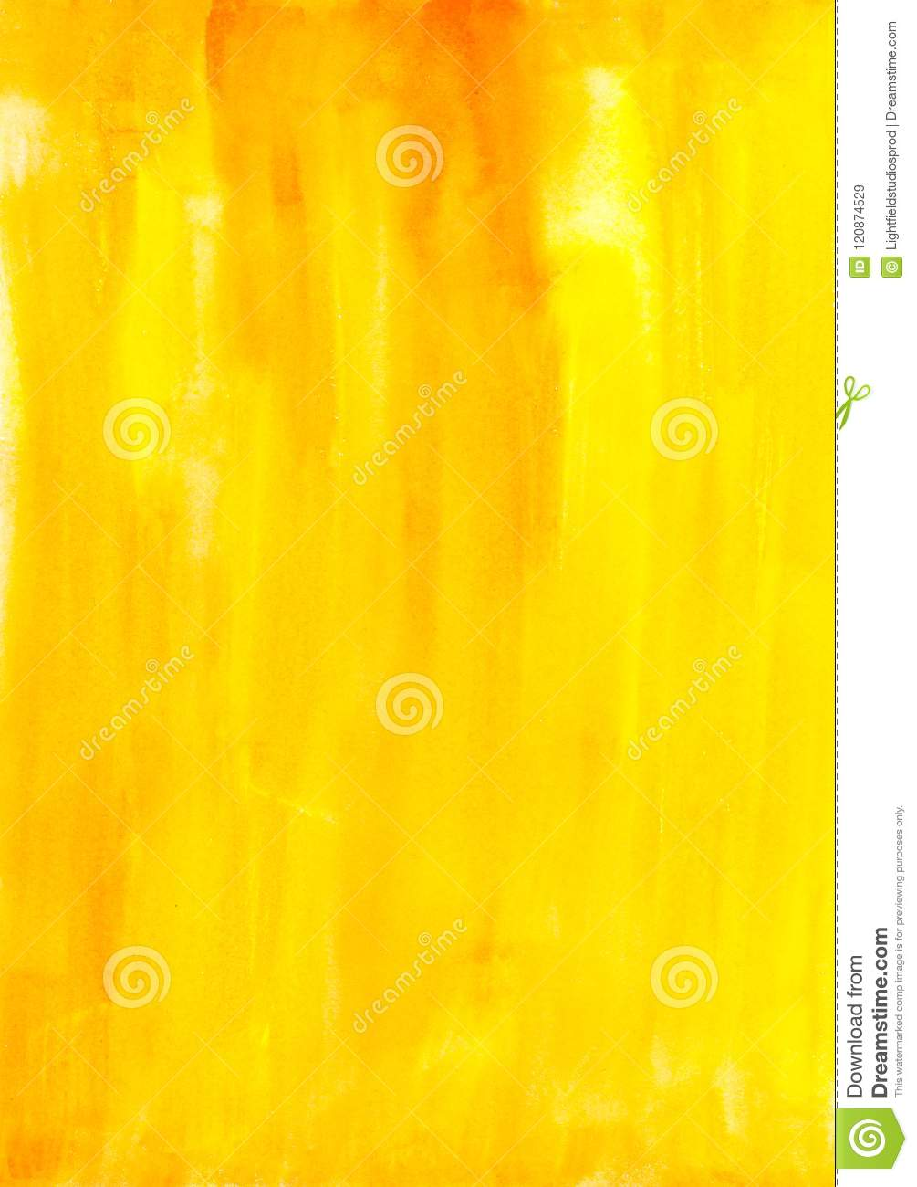 Abstract painting with bright yellow paint strokes,