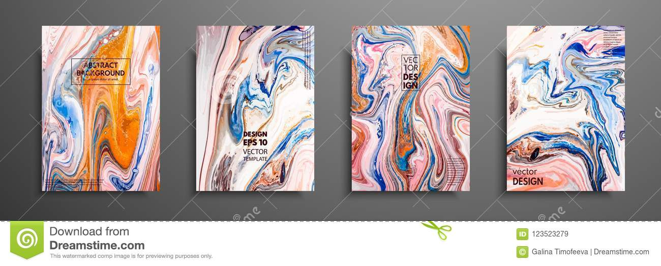 Abstract Painting Can Be Used As A Trendy Background For