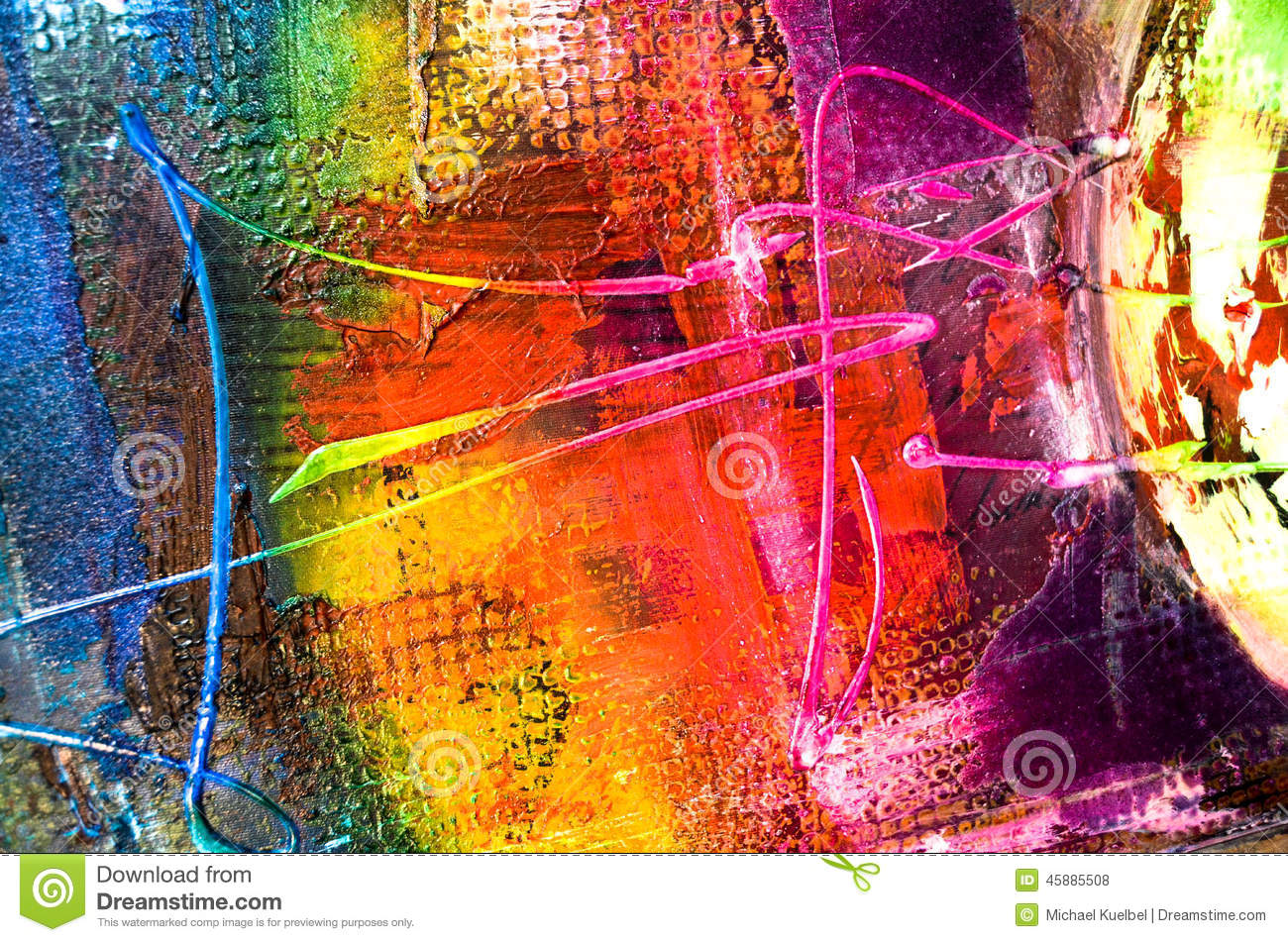 Abstract Painting Structure Stock Photo - Image of modern ...