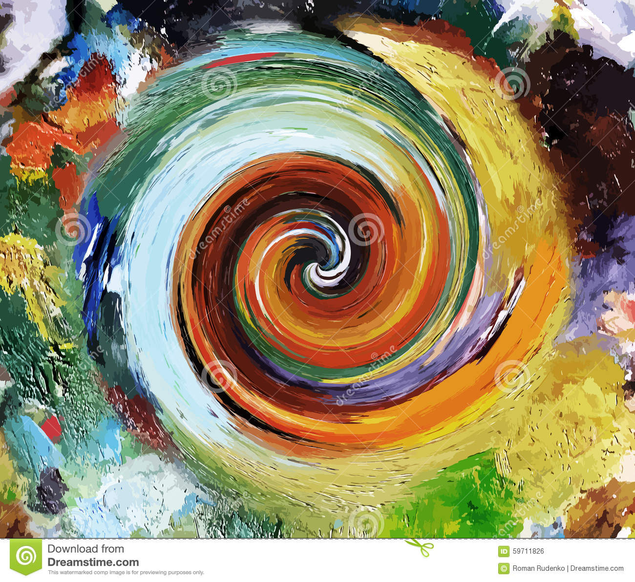 Oil Paints Abstract Swirl Free Vector