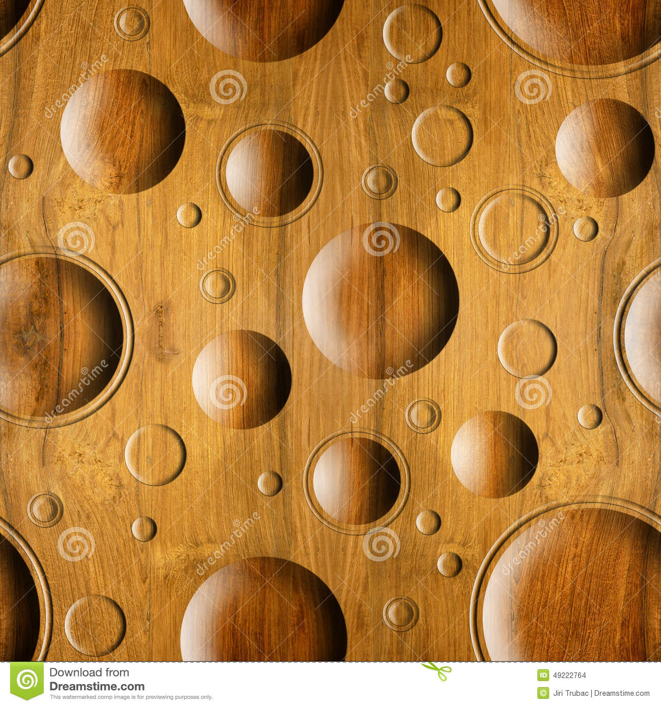 Abstract Paneling Pattern Seamless Background Wood