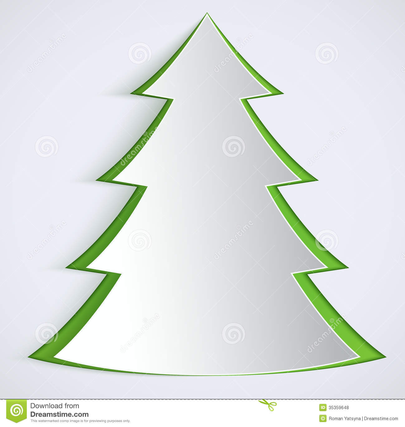 Paper Christmas Tree.Abstract Paper Christmas Tree Stock Vector Illustration