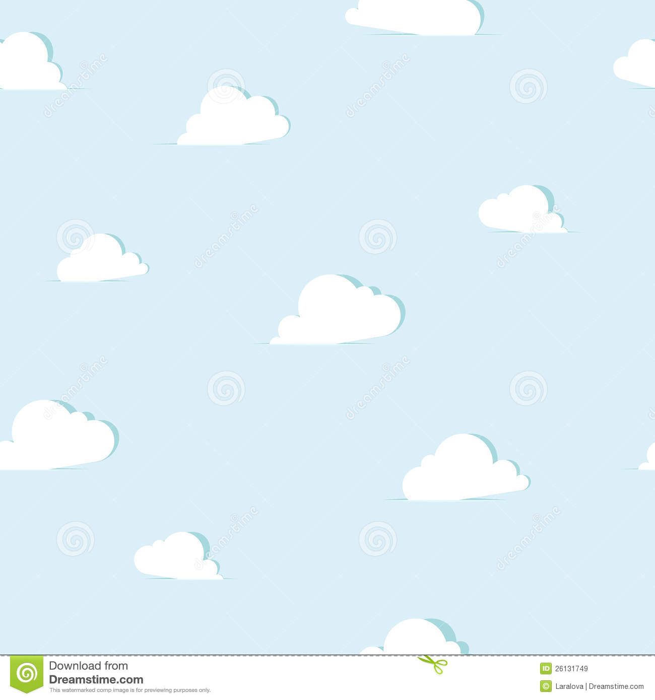 Abstract paper clouds seamless pattern royalty free stock for How to make a paper cloud