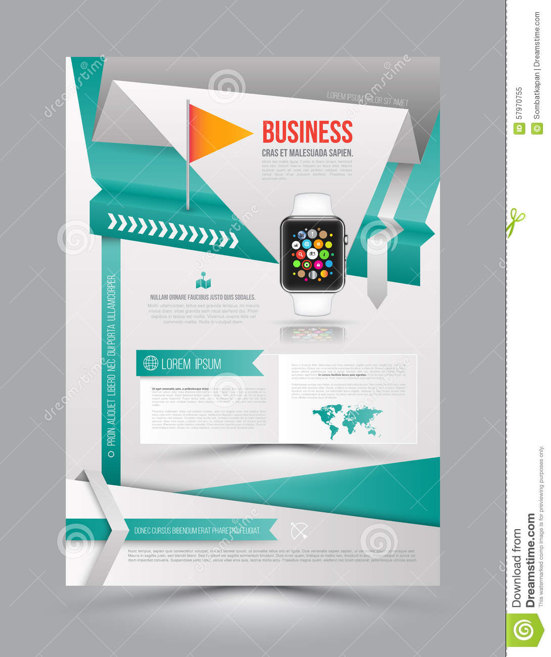 abstract paper origami design vector template layout magazine brochure flyer booklet cover annual report size 57970755 Top Result 60 Inspirational Paper Ad Design Templates