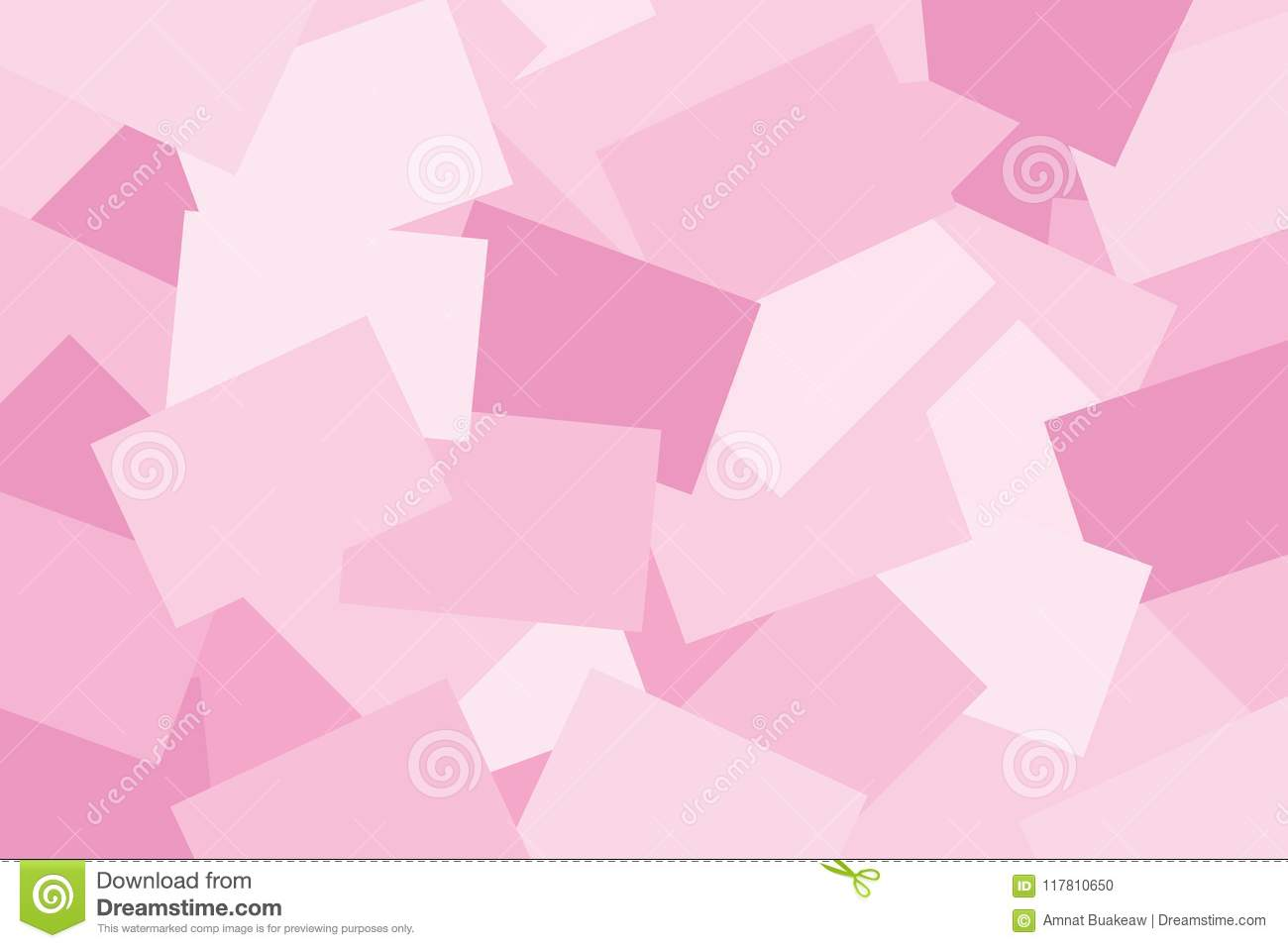 Abstract Paper Pink Pastel Colorful Geometric Flat Lay Style