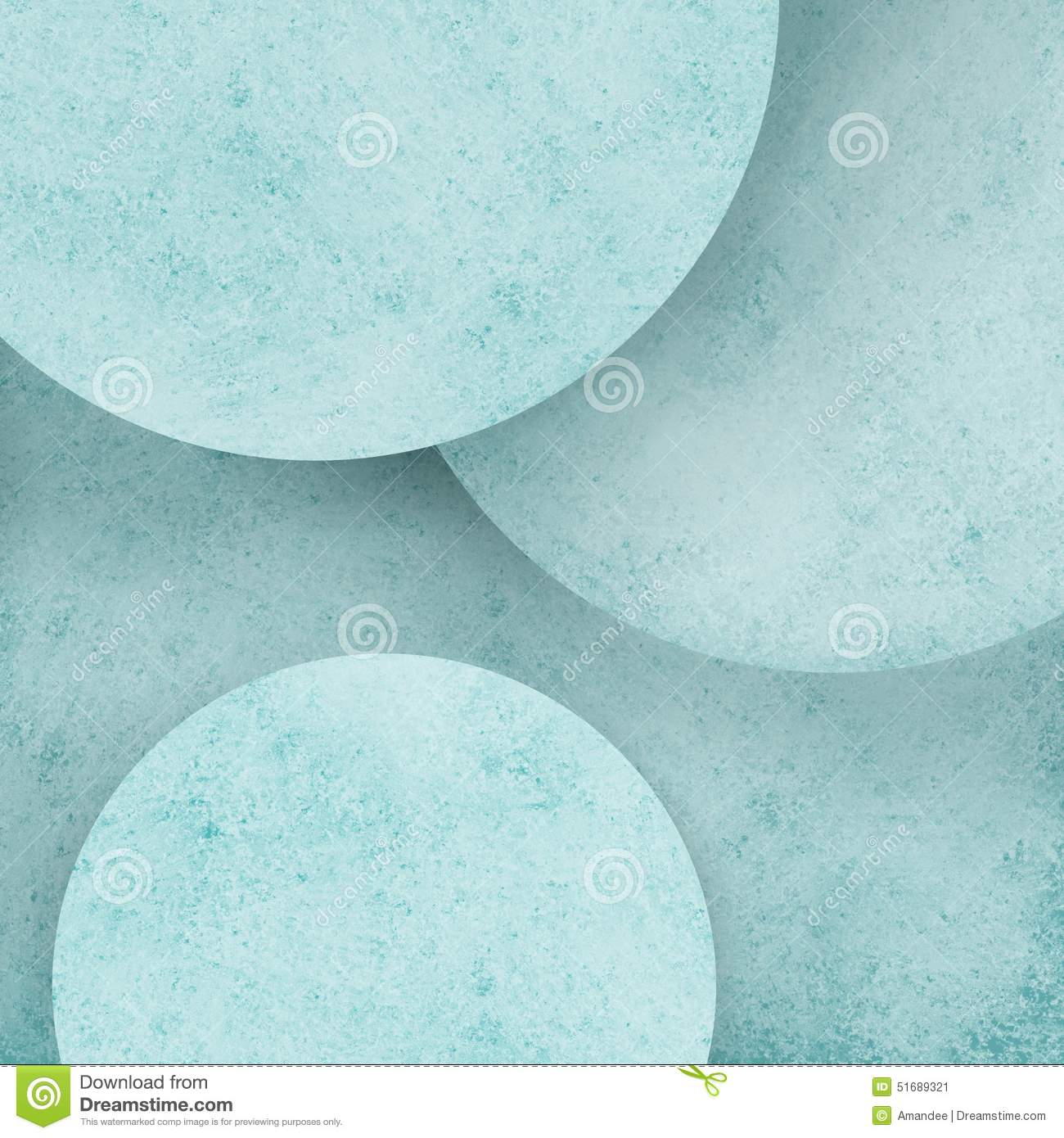 Abstract pastel blue circle geometric background with layers of round circles with distressed texture design