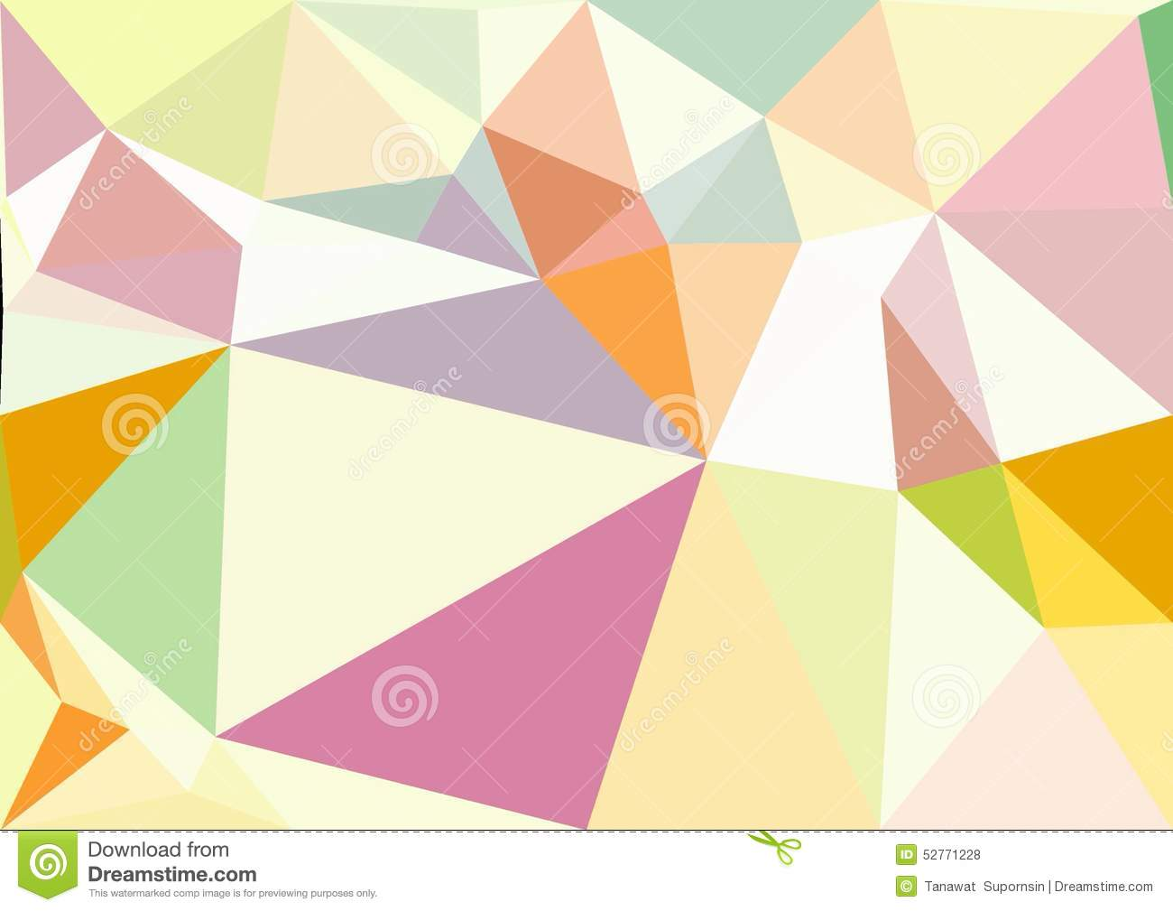 Abstract Pastel Color Low Poly Bokeh Wallpaper