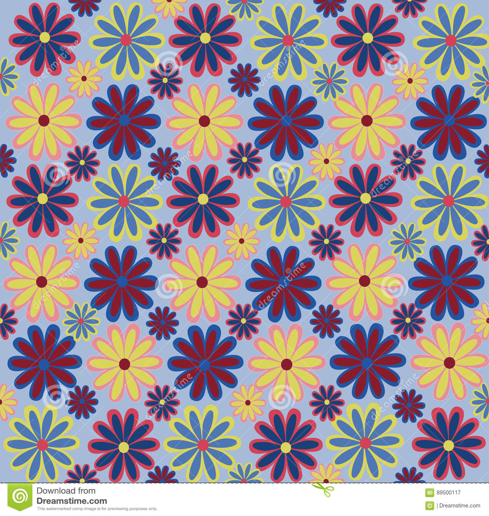 Abstract pattern flower seamless pink beauty summer