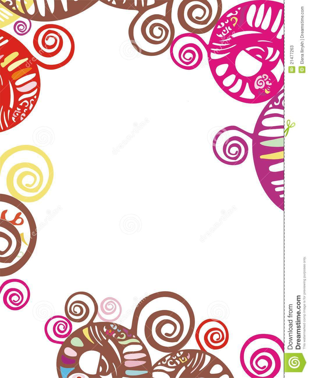 Abstract Patterned Decorative Border With Spiral S Stock ...