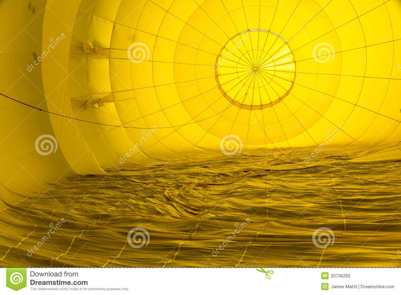 Abstract Patterns Inside a Hot Air Balloon