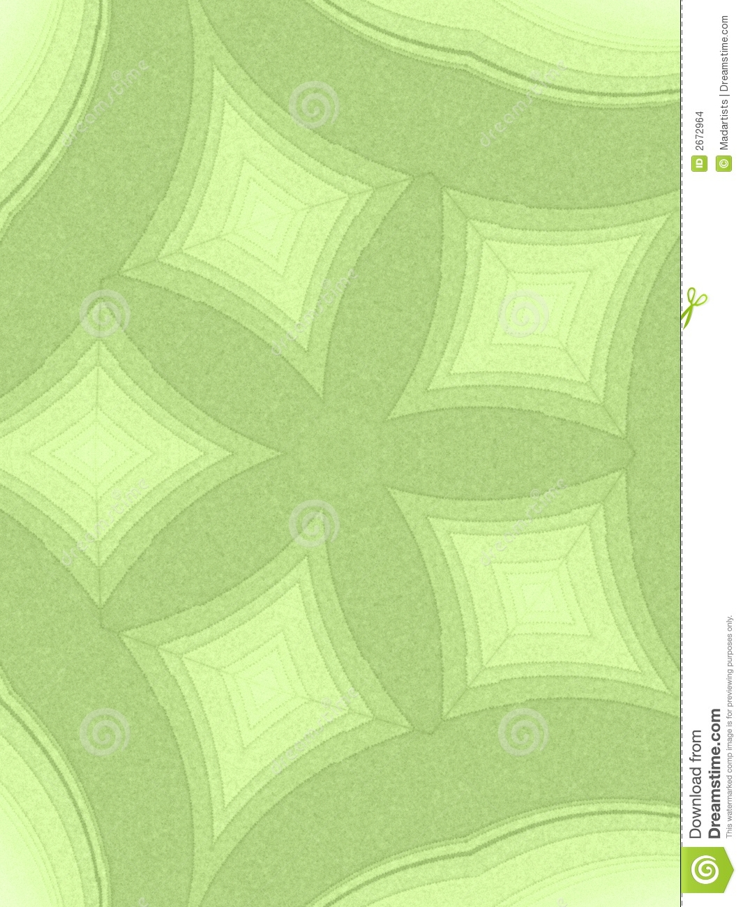 Abstract Patterns Light Green