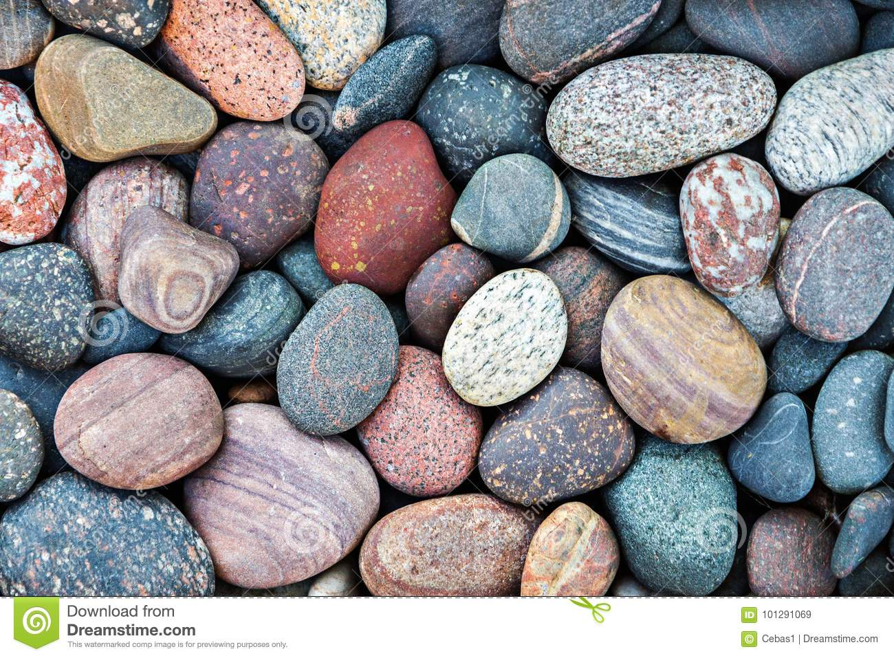 Abstract pebble stones background