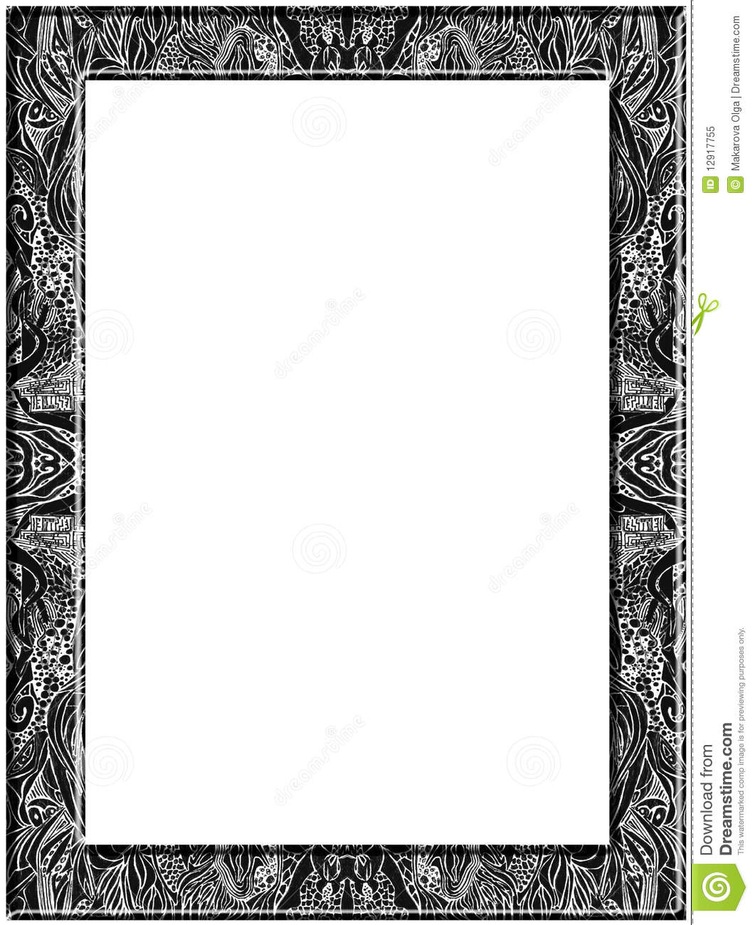 Kleurplaat Fotolijst Abstract Pen Drawing Frame Royalty Free Stock Photo