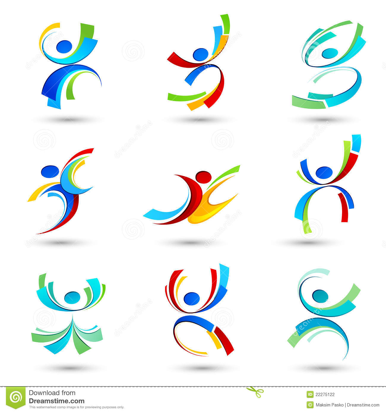 Abstract people icons stock vector. Illustration of idea ...