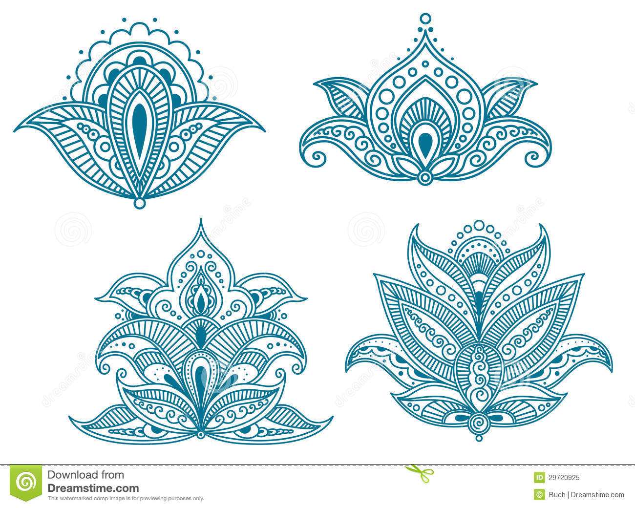 Abstract Persian Floral Royalty Free Stock Photo Image