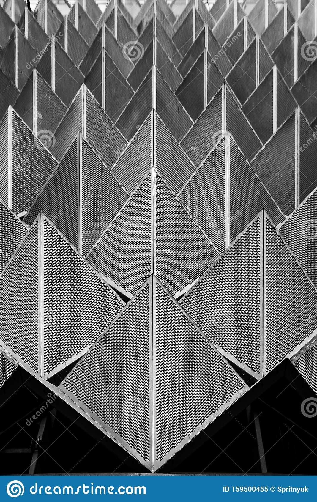 Abstract Photo Close up View Of Modern Aluminum Ventilated Facade ...