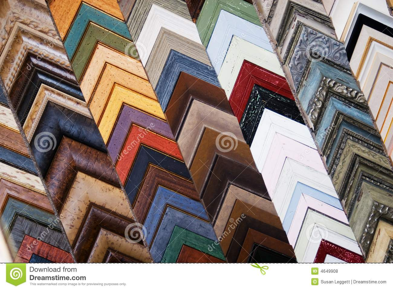 Abstract Picture Frame Colors