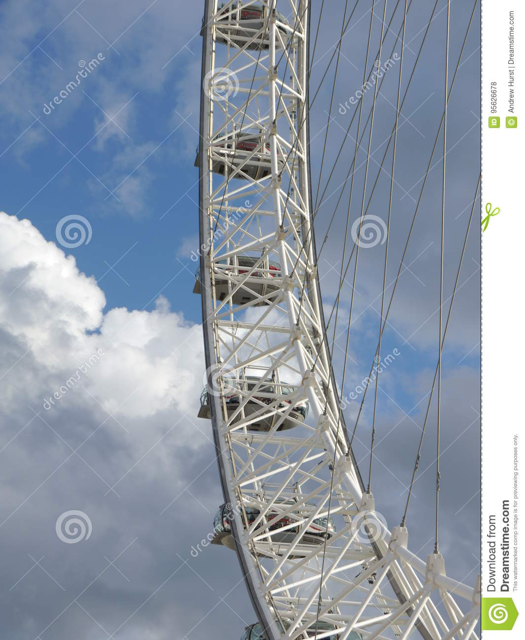 millennium big wheel london eye abstract editorial stock photo