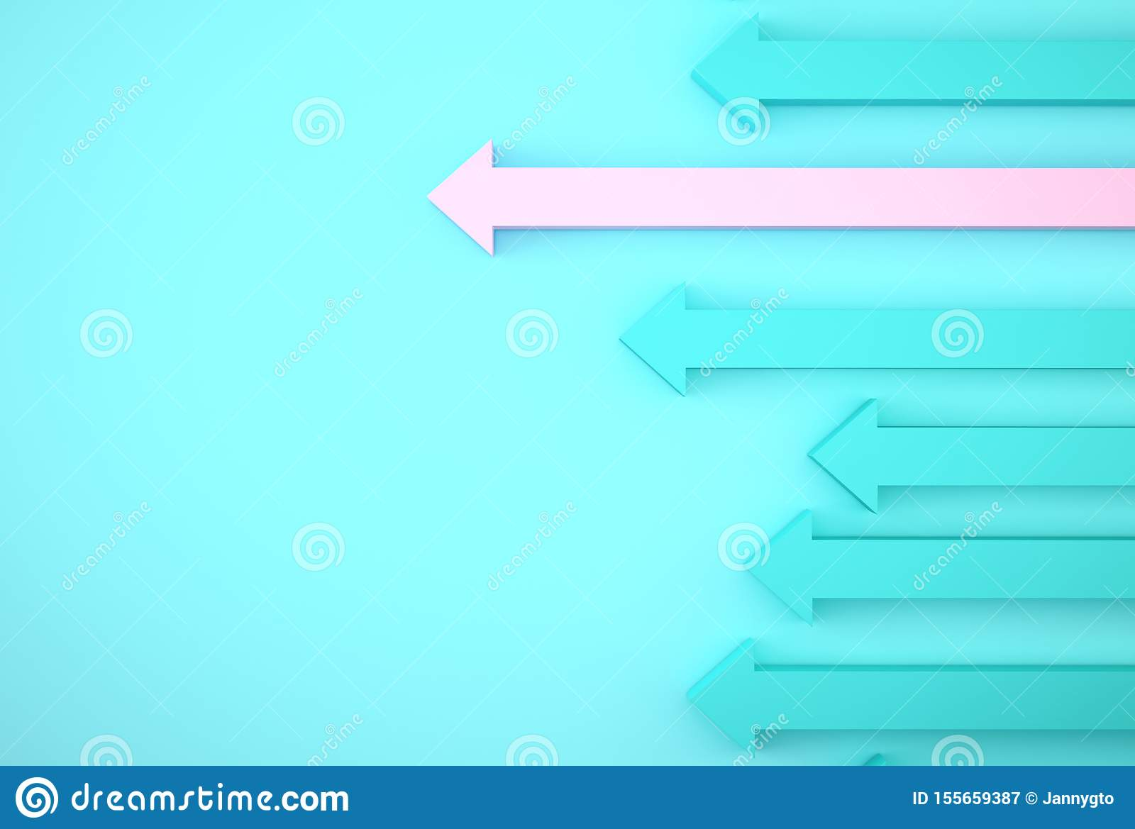 Abstract of pink arrow graph on blue background, corporate future growth plan. Business development to success and growing growth
