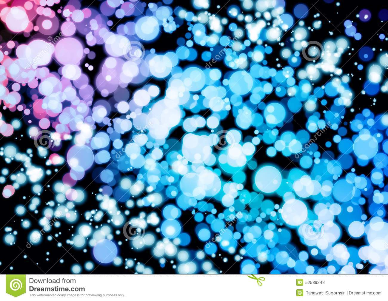 Abstract Pink Blue Purple Color Bokeh Wallpaper Stock Image