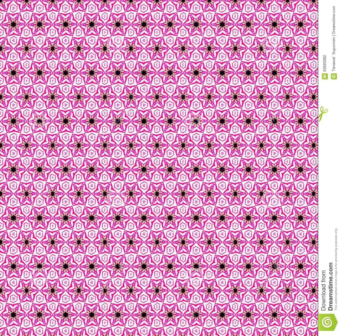 Abstract Pink Blue White Flower Wallpaper Stock Photo Image Of