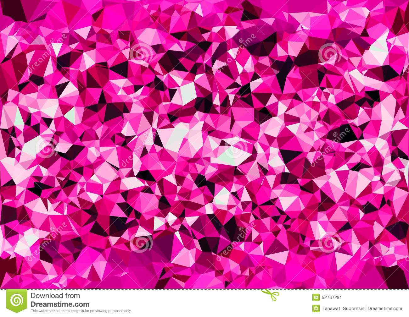 Abstract Pink Color Shiny Low Poly Bokeh Wallpaper Stock Image Image 52767291