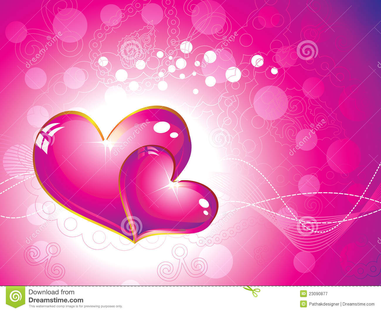 Abstract Pink Heart Wallpaper Royalty Free Stock
