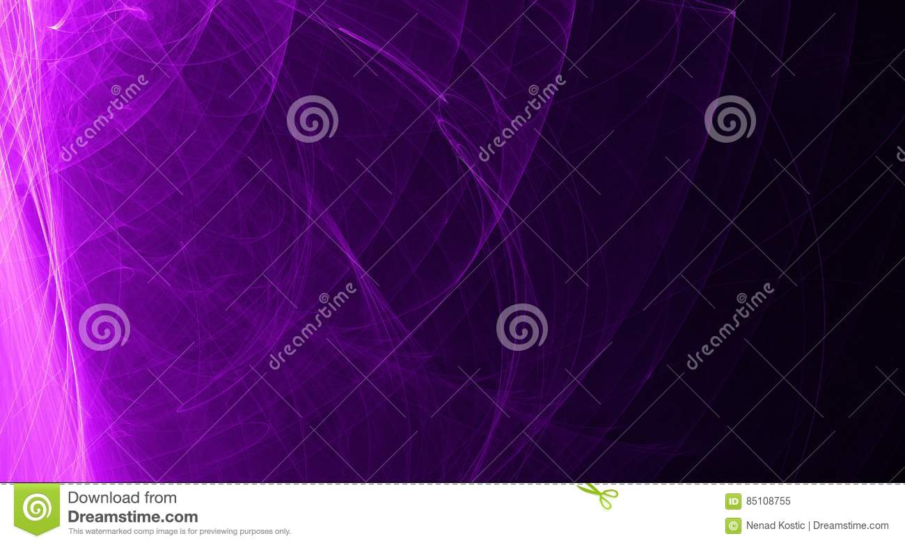 Abstract pink and purple light glows, beams, shapes on dark background