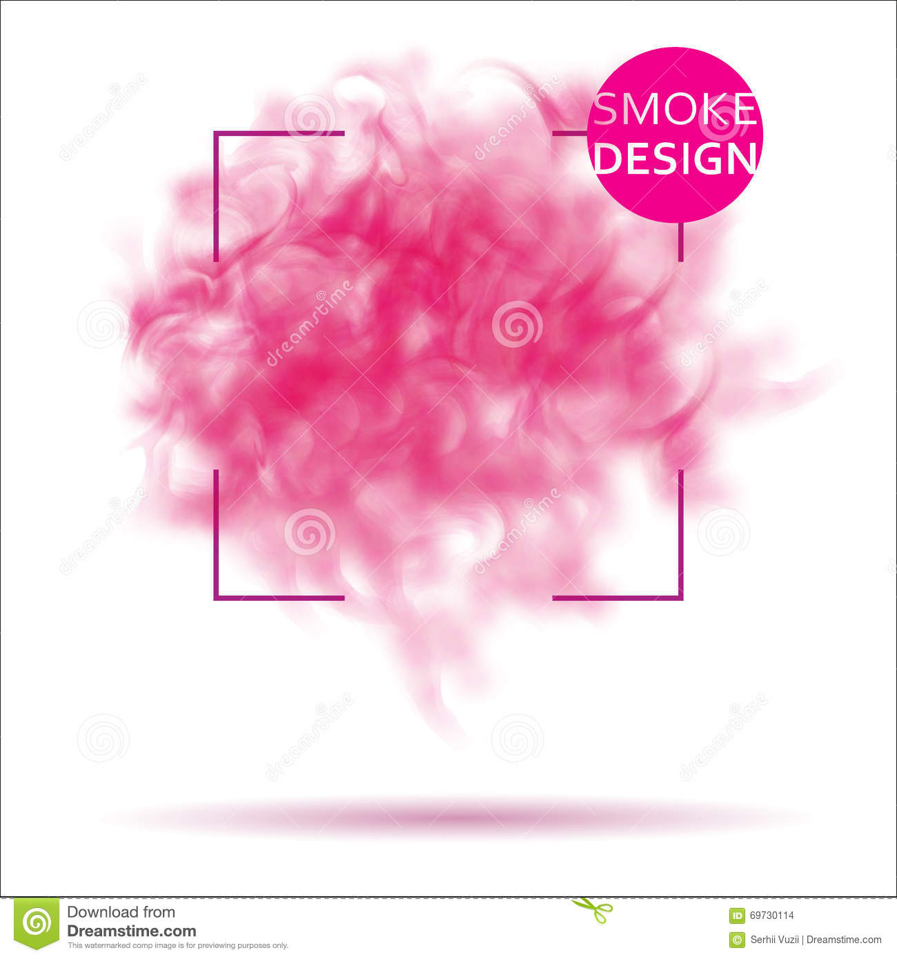 abstract pink smoke texture template stock vector illustration of