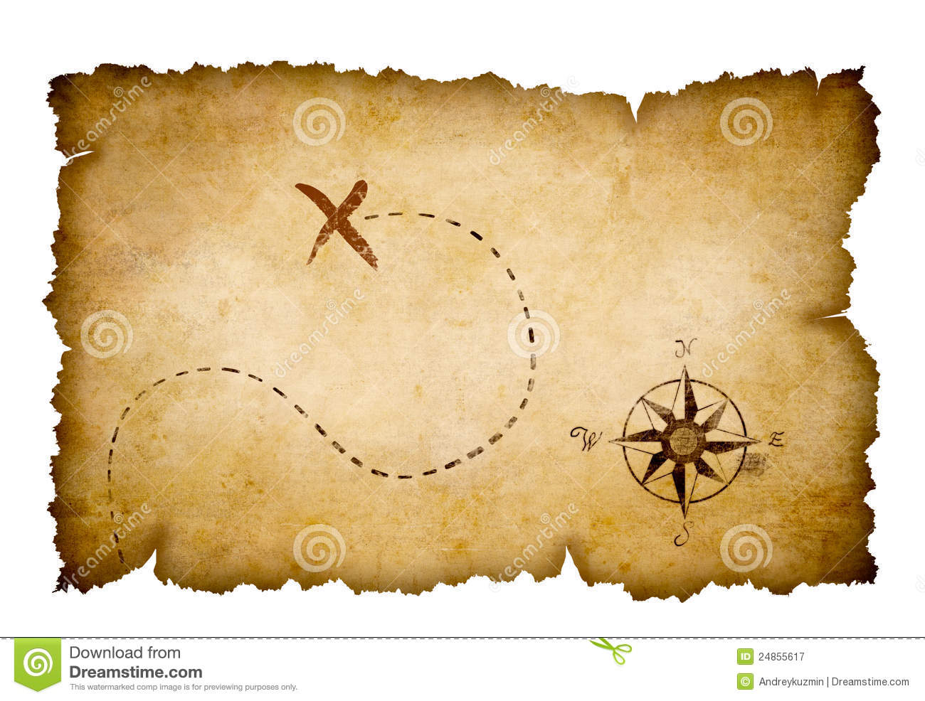 Abstract Pirates Old Treasure Map Royalty Free Stock