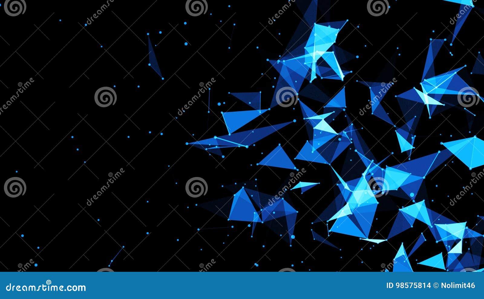 Abstract Plexus Background. Hi Tech Digital Background