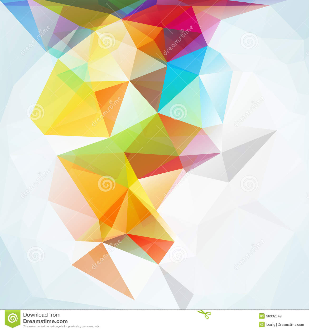 abstract polygonal colorful background - photo #46
