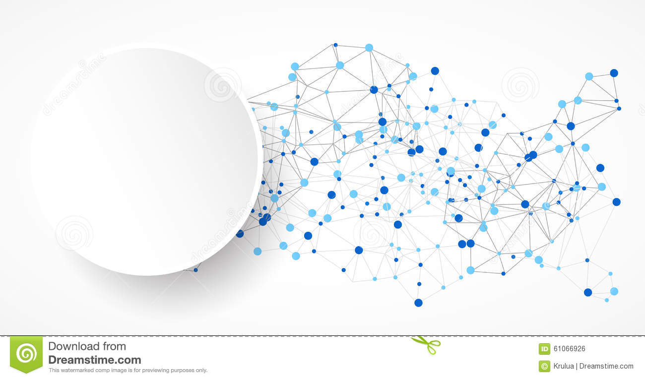 Abstract Polygonal Background With Connecting Dots And