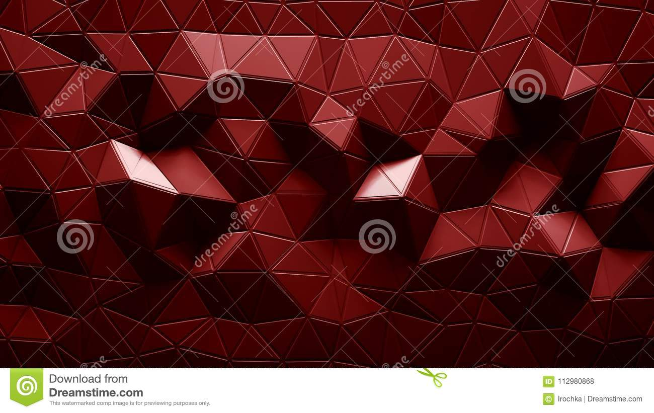 Abstract Polygonal Geometric background red color