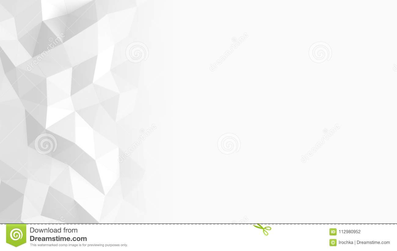Abstract Polygonal Geometric background white color