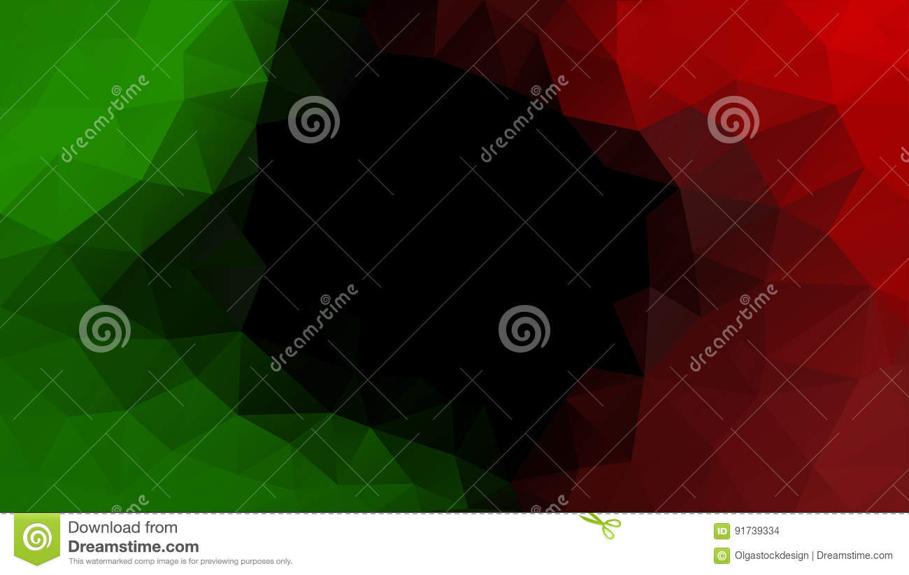 Abstract Polygonal Mosaic Vector Background  Green, Black