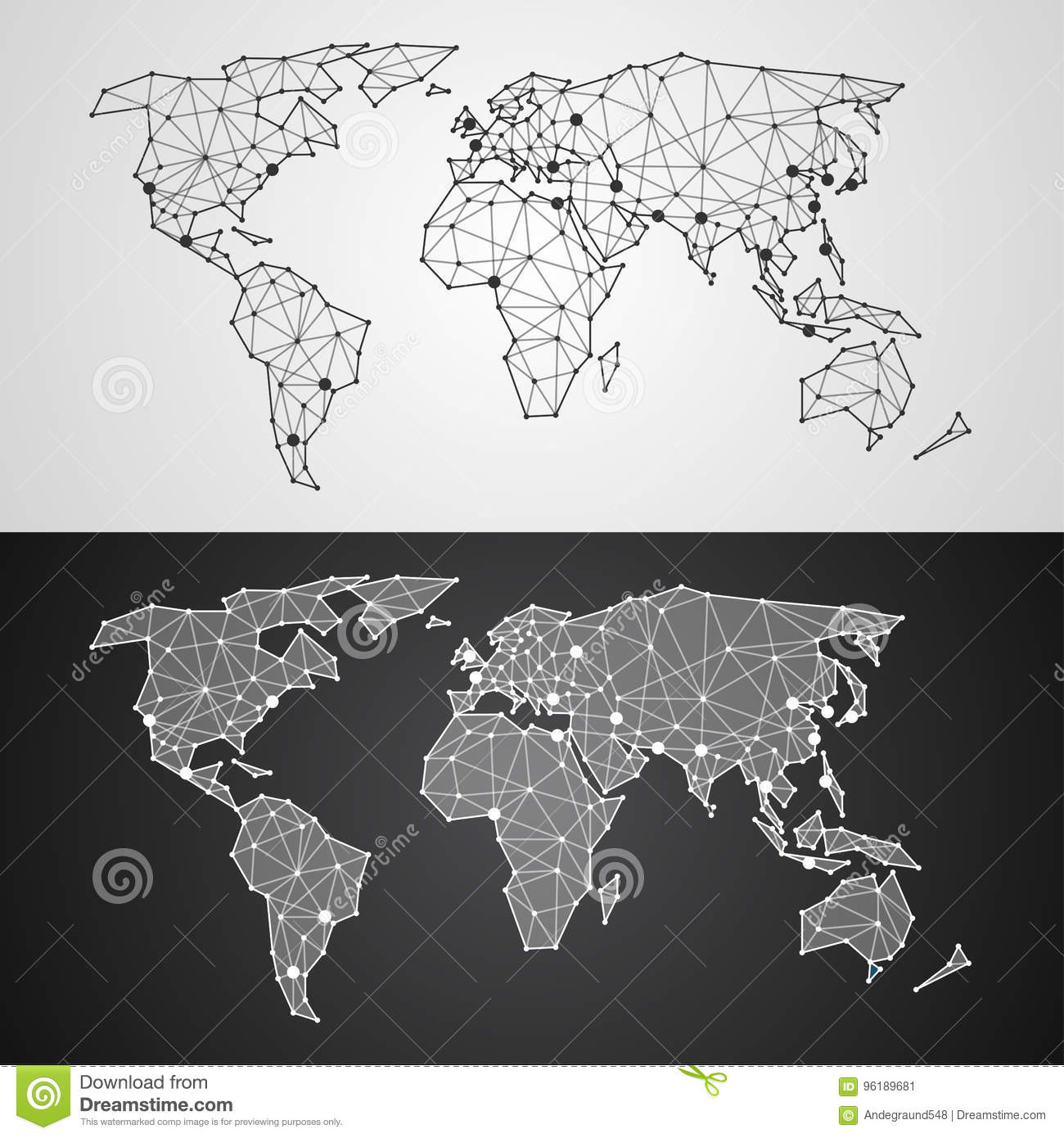 Abstract polygonal world map from triangles and dots stock vector download abstract polygonal world map from triangles and dots stock vector illustration of abstract gumiabroncs Images